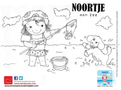 Colouring Noortje at the beach
