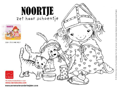 Noortje is waiting for St. Nicolas